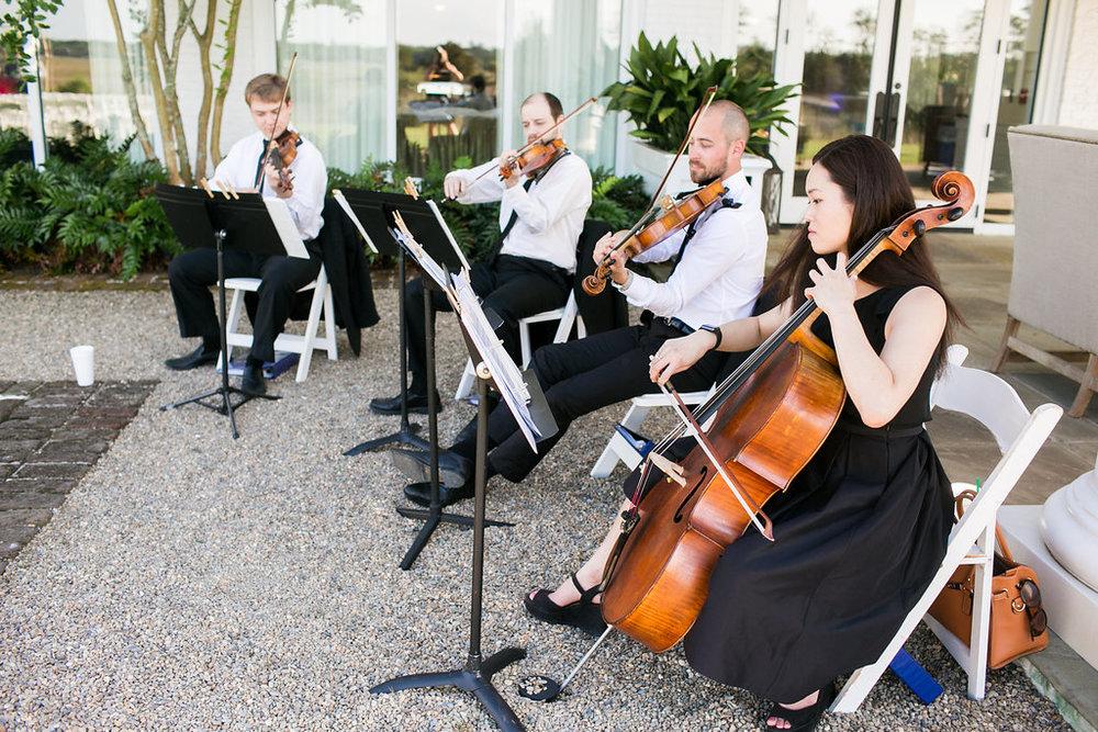 Charleston virtuosi at Daniel Island Club wedding ceremony