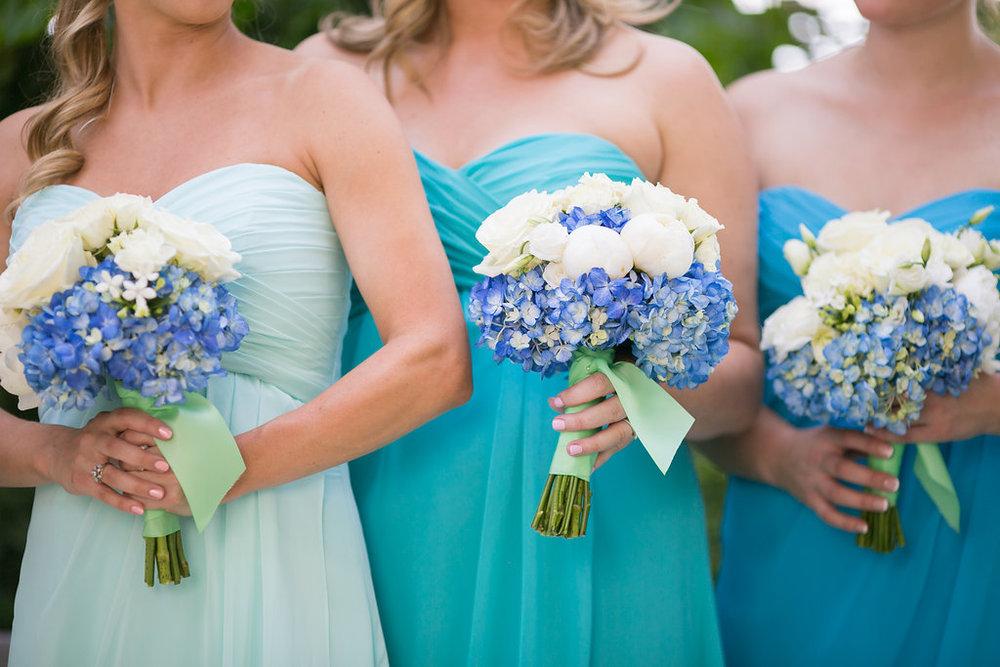 Mint & Aqua Mori Lee Bridesmaids Dresses