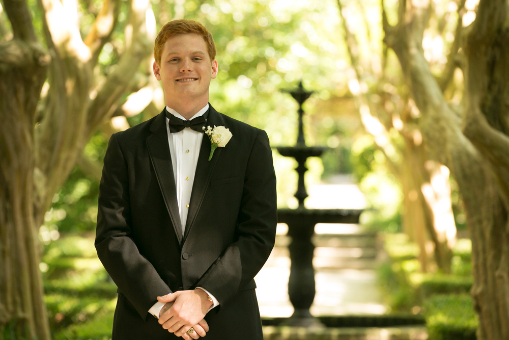 Groom in Black Tuxedo at Columbia SC wedding