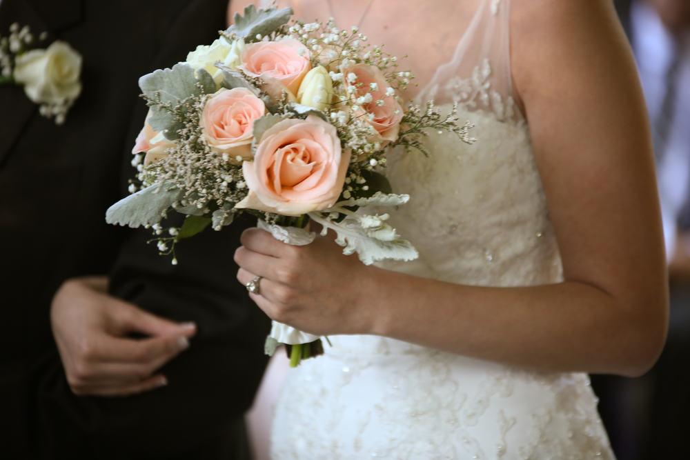 Bouquets at Lace House wedding