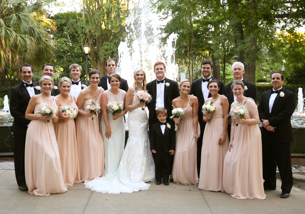 Bridal Party at South Carolina Wedding in Columbia at The Lace House