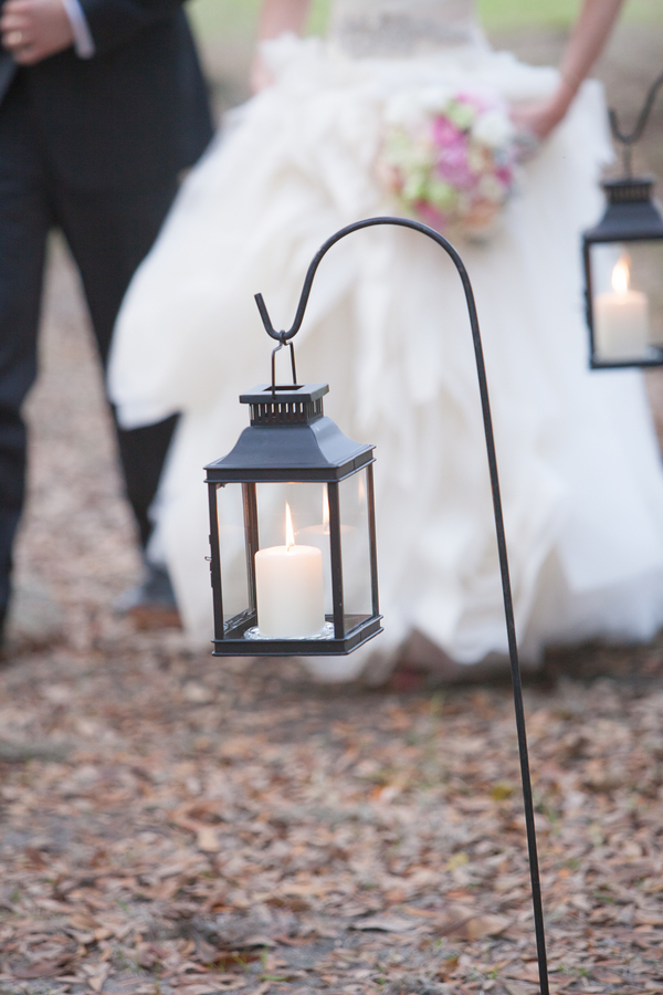 Outdoor Lanterns at Middleton Place Wedding