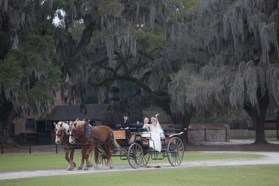 Carriage Ride at Middleton Place Wedding In Charleston, Sc