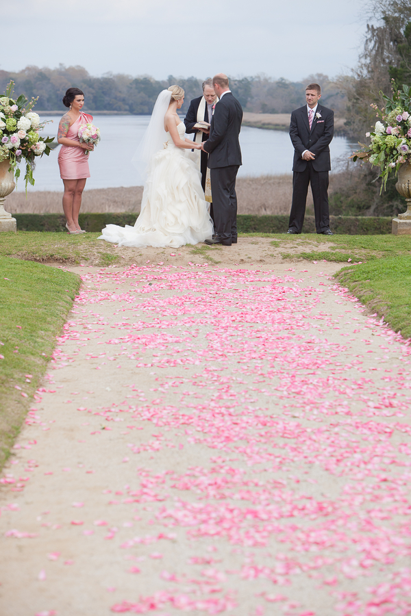 Middleton Place Wedding ceremony at Butterfly Lakes by MCG Photography