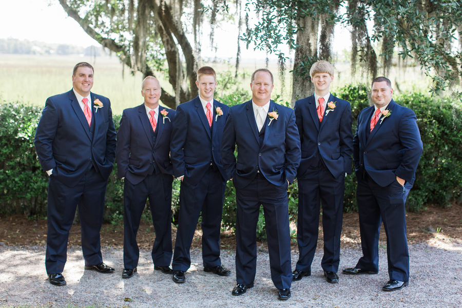 Groomsmen at Charleston wedding at Creek Club at I'On by Alyona Photography