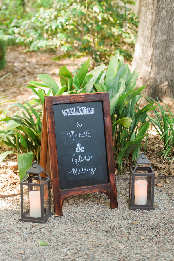 Charleston wedding chalkboard at Creek Club at I'On by Alyona Photography