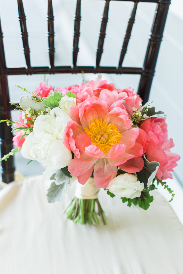 Pink Peony Bouquet by Charleston wedding florist - Framptons Flowers