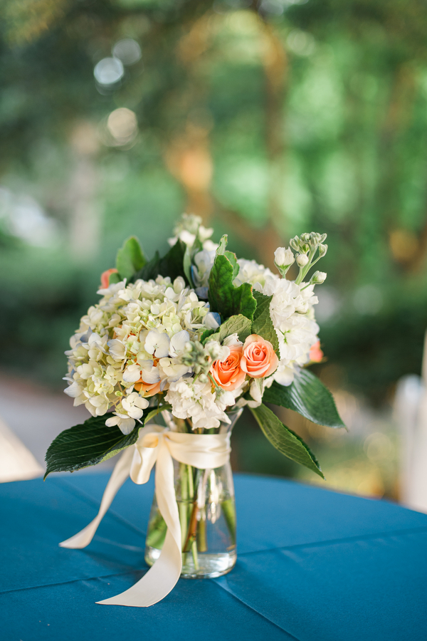 Charleston wedding centerpieces at Creek Club at I'On by Alyona Photography