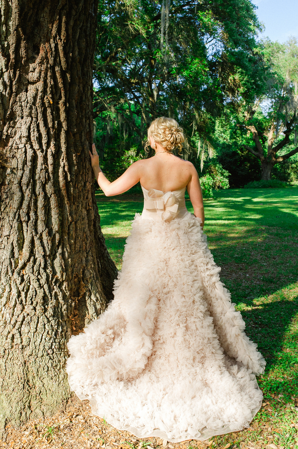 Blush Watters Wedding Gown at Legare Waring House by Priscilla Thomas Photography