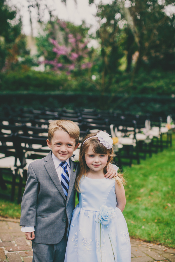 Charleston wedding Flower girl and ring bearer at Thomas Bennett House by Mingle