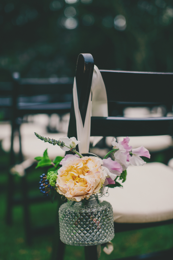 Charleston wedding aisle decor at the Thomas Bennett House by Hyer Images