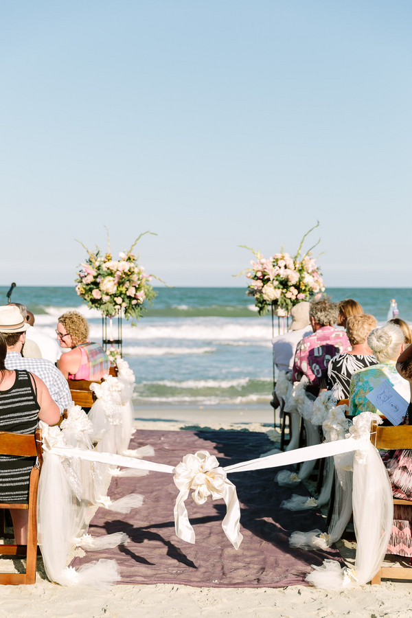 Summer Beach Weding in Myrtle Beach by Callas Florist