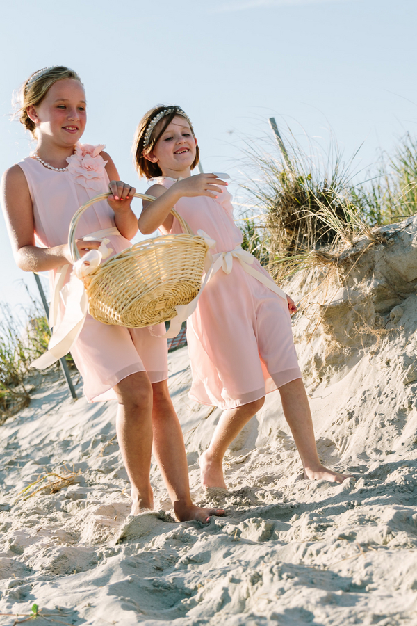 Flower Girls in Pink at wedding in Myrtle Beach, SC