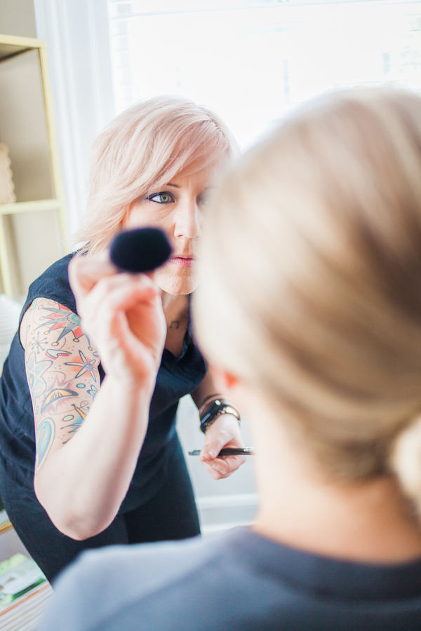 Charleston wedding makeup at Cooper River Room by Judy Nunez Photography
