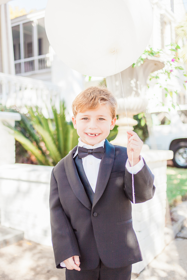 Charleston wedding ringbearer at Cooper River Room