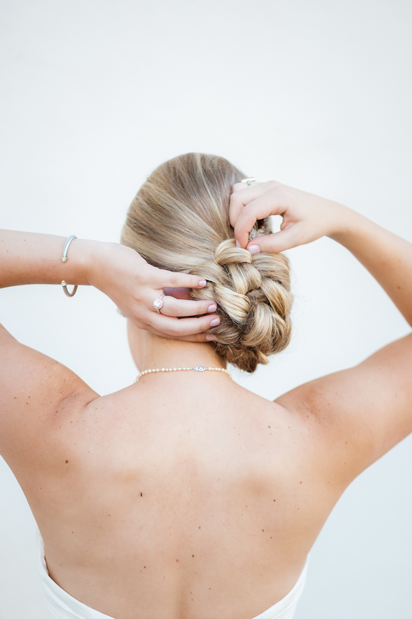 Charleston wedding updo at Cooper River Room