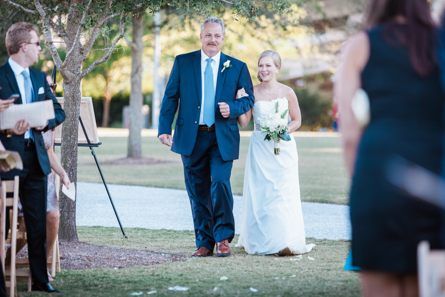 Outdoor Charleston wedding ceremony at Cooper River Room