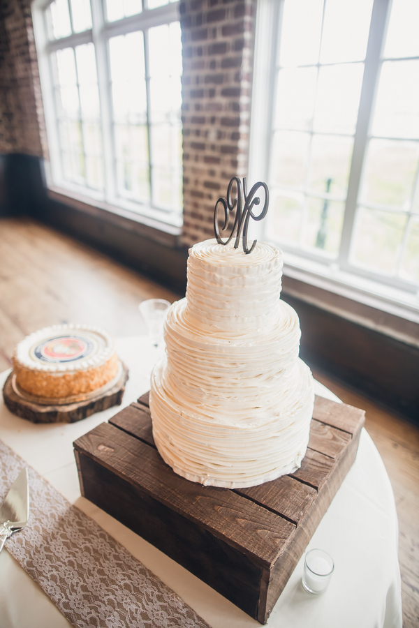 Charleston wedding cake at Historic Rice Mill Building