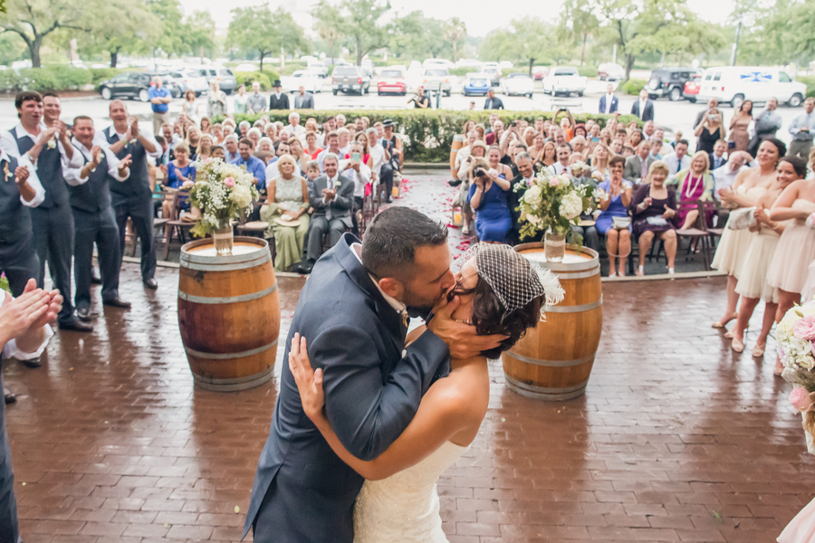 Historic Rice Mill wedding ceremony in Charleston, SC by Richard Bell Photography