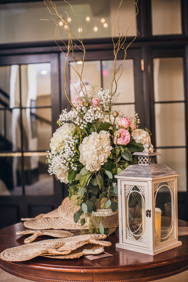 Charleston wedding centerpieces atAnna Bella Florals at Historic Rice Mill Building by Richard Bell Photography