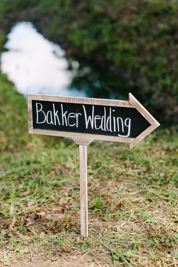Charleston Wedding chalkboard sign at Boone Hall Plantation by Riverland Studios