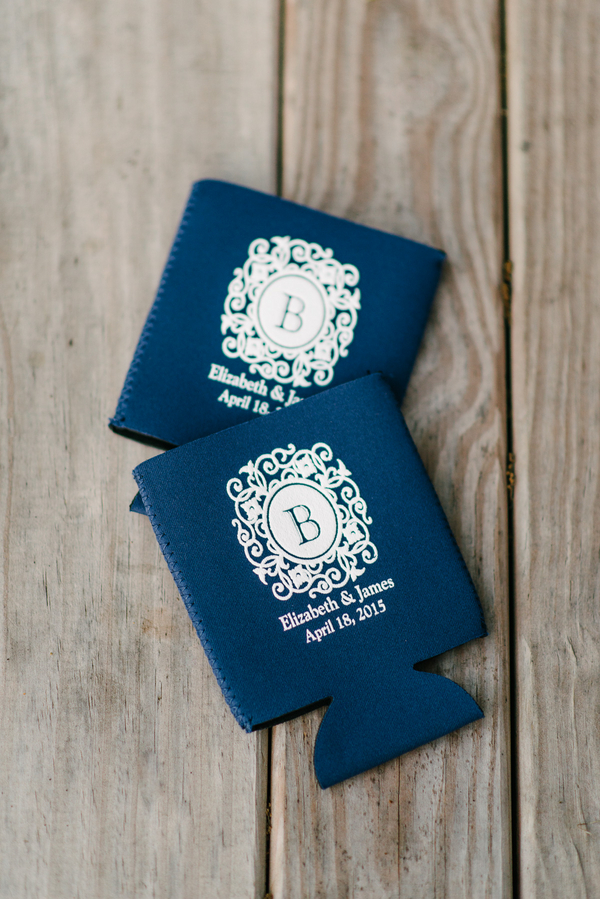 Charleston wedding koozies at Boone Hall Plantation by Riverland Studios