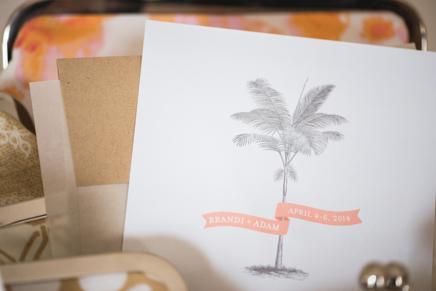 Peach Charleston Wedding Invitation at McCrady's Restaurant by Priscilla Thomas Photography