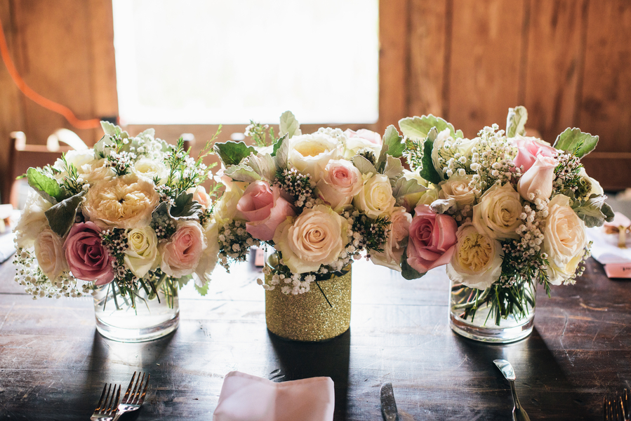 Pink Charleston Wedding Bouquets at Boone Hall Plantation by Riverland Studios