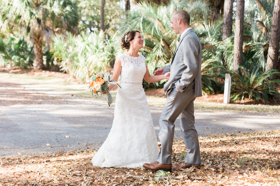 Fripp Island Wedding First Look by Riverland Studios