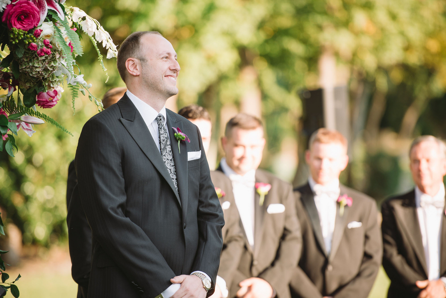 Stone River outdoor Wedding ceremony in Columbia SC by Joshua Aaron Photography
