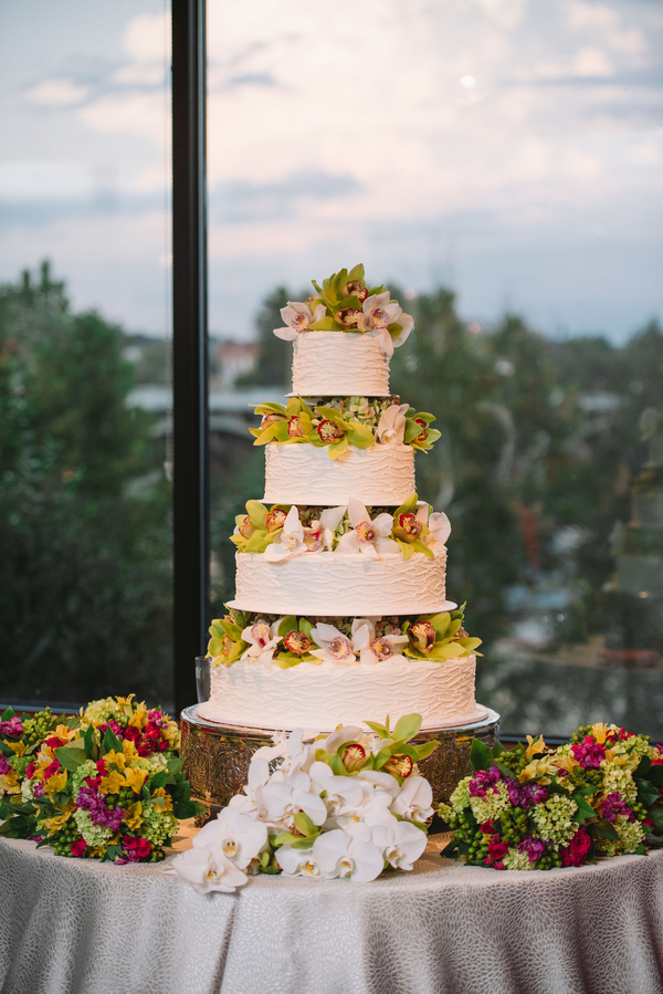 Pink Stone River Wedding cake in Columbia SC by Parkland Cakes