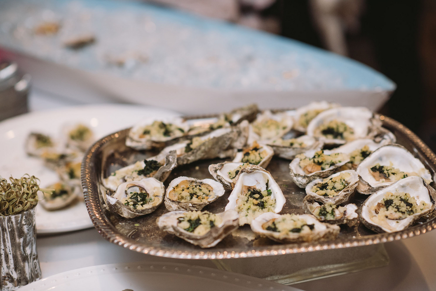 Oysters at Stone River Wedding in Columbia SC by Cricket Newman Designs