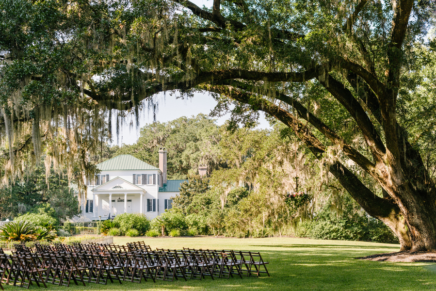 Harrietta Plantation wedding ceremony in McClellanville, SC by Riverland Studios