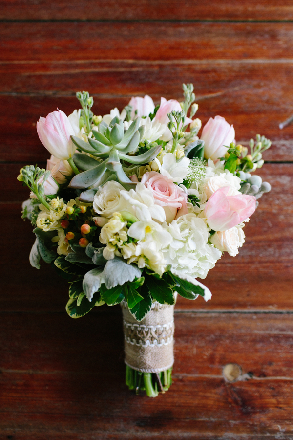 Pink bouquet at Harrietta Plantation wedding in McClellanville, SC by Riverland Studios