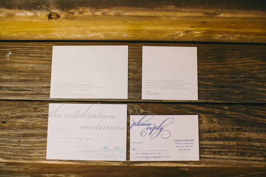 Rice Mill Building Wedding Invitations in Charleston, SC by Hyer Images