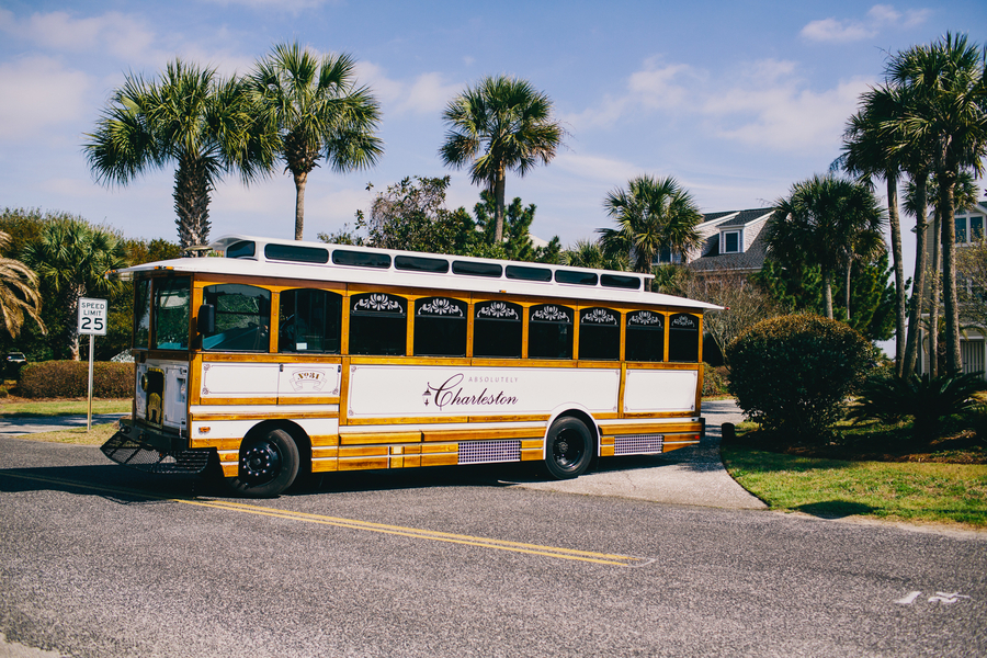 Absolutely Charleston wedding trolley by Hyer Images