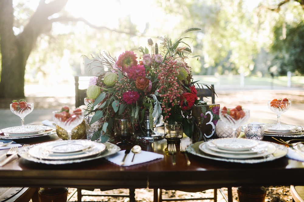Lowcountry Wedding Inspiration at Belfair Plantation by Ivory + Beau and Rach Loves Troy Photography