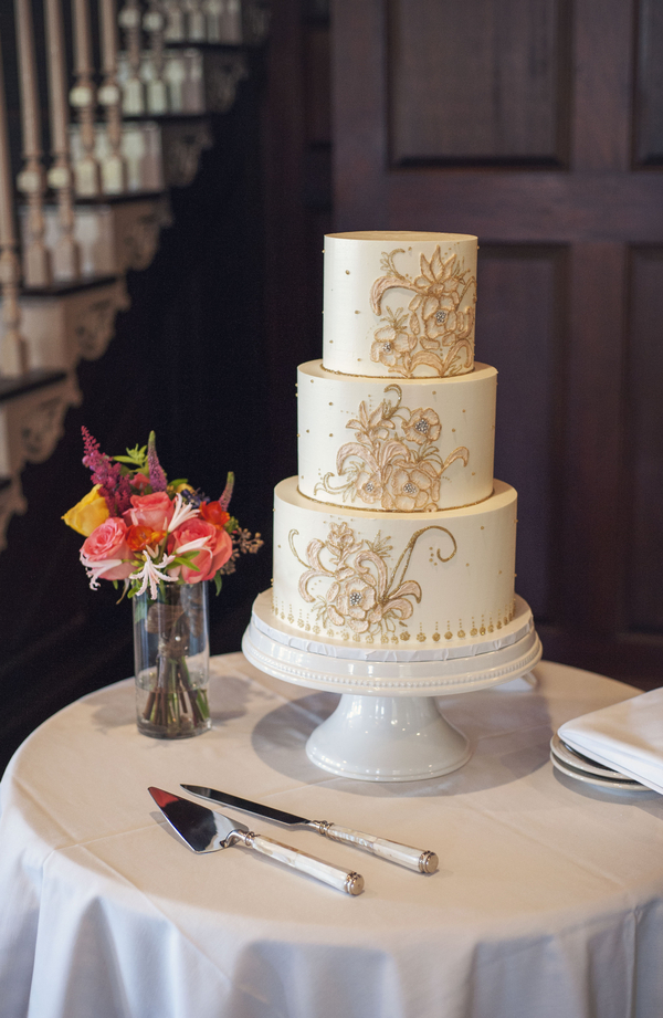 Charleston wedding cake at Dunes West Golf Club Wedding by Melissa Brewer Photography