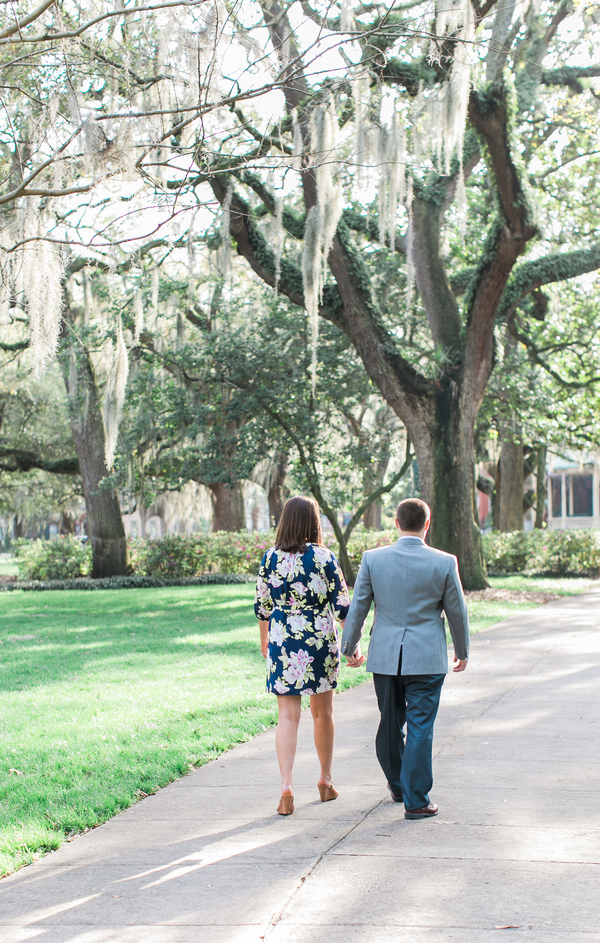 Katie + Ramsey's Savannah Wedding Engagement at Forsyth Park