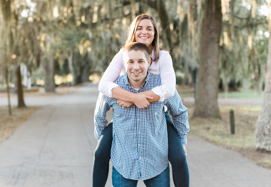 Katie + Ramsey's Savannah Wedding Engagement at Bethesda Academy by Chloe Giancola Photography