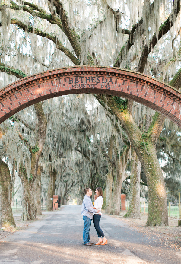 Savannah Wedding Engagement at Bethesda Academy