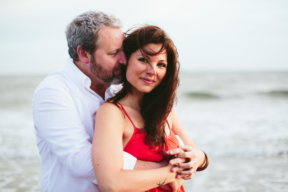 Beach Wedding Engagement in Charleston, SC by Angela Cox Photography