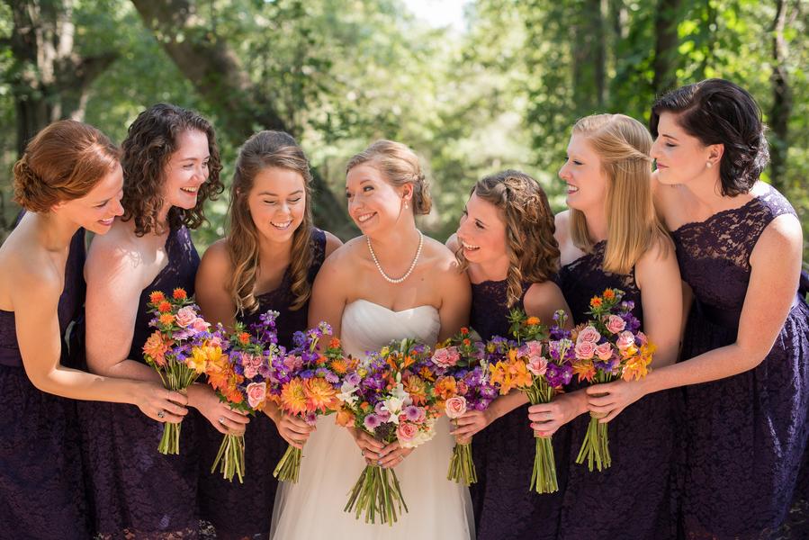 Purple and Orange Sleepy Hollow Barn Wedding by Southern Jewel Photography