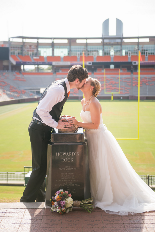 Kenny & Rachel's Clemson Wedding at Memorial Field by Southern Jewel Photography