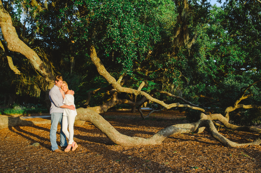 Chelsea + Todd's Charleston Engagement Session at Hampton Park