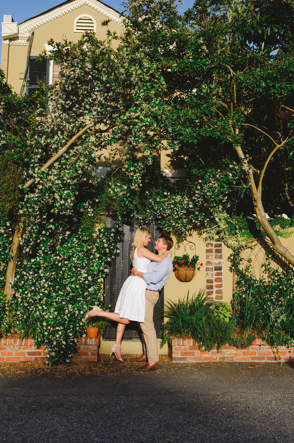 Chelsea + Todd's Charleston Engagement Session by Priscilla Thomas Photography