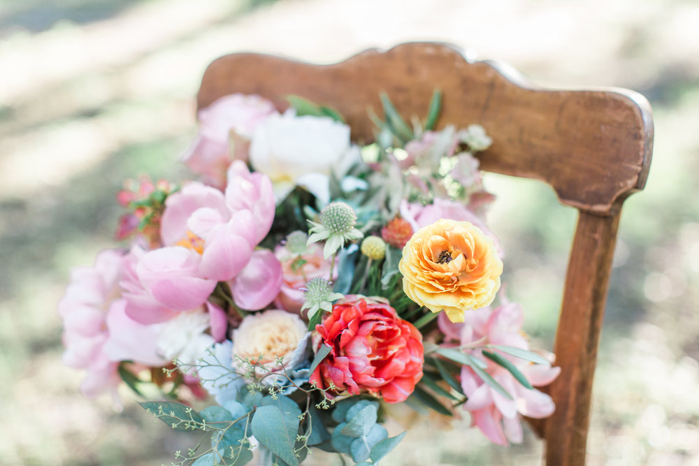 Savannah Wedding Inspiration with pastel flowers including peonies