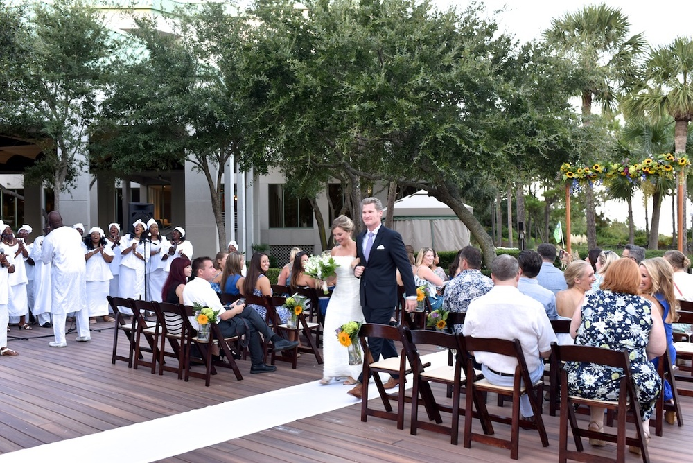 Wedding Ceremony at 'Wed at the Westin' Welcome Party on the Oceanfront Deck