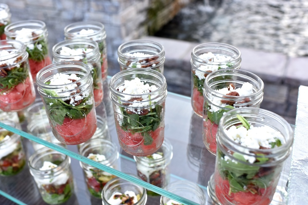 Watermelon, Feta and Arugula Salad at 'Wed at the Westin' Welcome Party on the Oceanfront Deck of the Westin Hilton Head Island Resort & Spa by Donna Von Bruening Photography