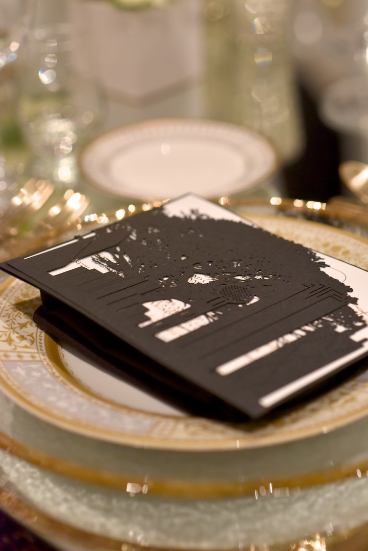 Laser Cut invitations at in the Grand Ballroom of the Westin Hilton Head Island Resort & Spa